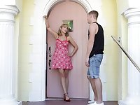 stunning blonde Amber Chase adores jumping on a friend's penis