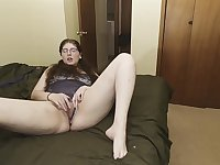 Stepdad walks in on stepdaughter masturbating, she wants his big dick
