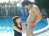 Sweetie opens pussy outdoors to get it toyed and fucked