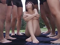 Stunning Sakura Kizuna and her friends adore hard orgy and strong cum