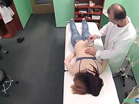 Amateur brunette girl Nana Ainse gets fucked by her horny Doctor