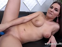 Cunt play with her favorite toy - amateur girl next door masturbating solo