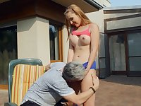 Outdoor step dad porn makes the busty teen lose her shit