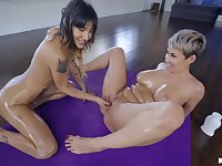 MILF enjoys younger slut for a serious lesbian tryout