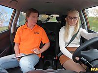 Young blonde cutie Amaris fucks her pervy driving instructor