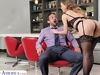 Hyper sexual milf Cherie Deville bangs handsome birthday boy Johnny Castle