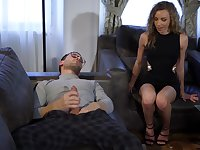 Horny wife Angel Emily enjoys having her ass licked and gets fucked