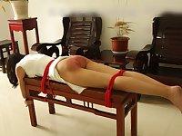 Traditional paddling in Asia - Fetish bondage
