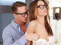 Sensual lovemaking with stunning girlfriend Hazel Dew in high heels