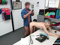 Full webcam hard sex with a petite shoplifter willing to do anything