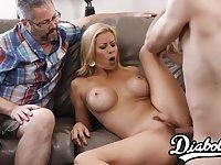Smoking hot Alexis Fawx makes her hubby a jealous cuckold - Alexis fawx