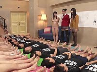Aroused teens from Japan choosing who to fuck and having fun